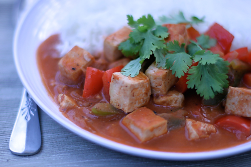 Bell Pepper and Tofu Curry