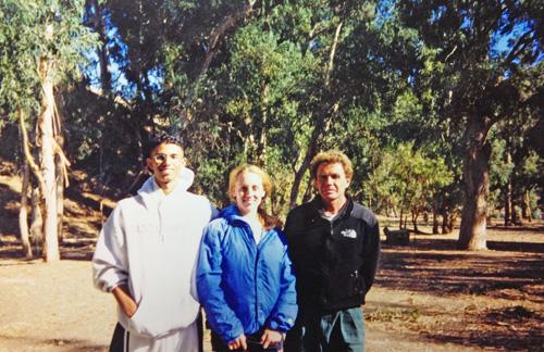 Kismat, me and our biology teacher at Santa Cruz Island