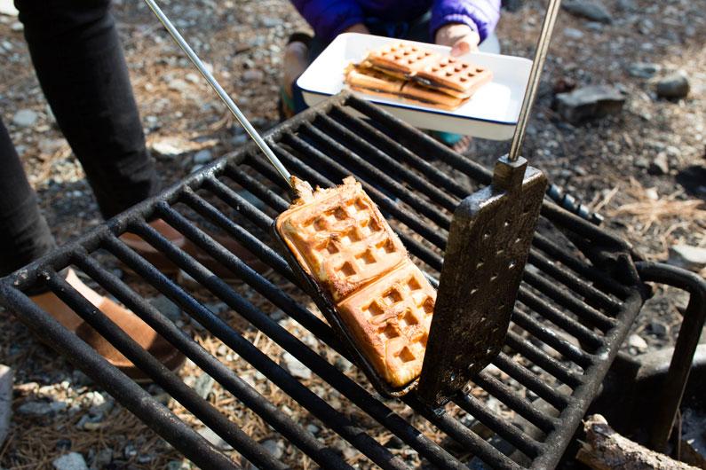 DirtyGourmet-campfire-cinnamon-roll-waffles1